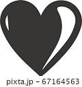 ハートアイコンイラスト 67164563