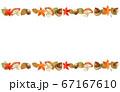紅葉とドングリときのこの秋フレーム 67167610