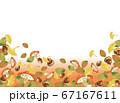 紅葉とドングリときのこの秋フレーム 67167611