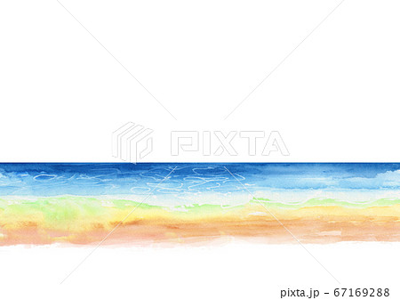 海 背景 イラスト 水彩 67169288