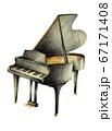 黒いグランドピアノ 手描き 67171408
