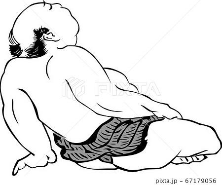 浮世絵 相撲取り その18 67179056