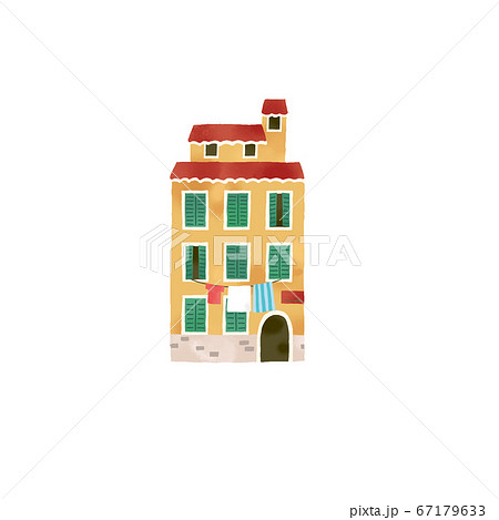 イタリアのおしゃれな家のイラスト 67179633