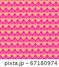 ショッキングピンクベースの小さなハートのリピート柄 67180974