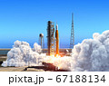 Big Heavy Rocket Space Launch System Launch From Launchpad At Cape Canaveral 67188134