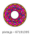 vector illustration of colored realistic donut on white background 67191395