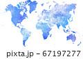 世界地図 宇宙柄 67197277