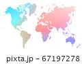 虹色グラデーション 世界地図 67197278
