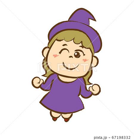 魔女の仮装をした女の子 67198332