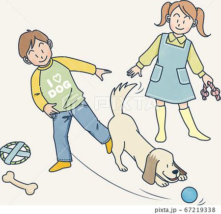 犬と遊ぶ 67219338