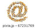 At sign, e-mail symbol from medical bottles 67231769