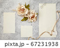 Blank greeting cards for wedding day. 67231938