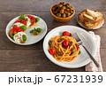 Full table of italian meals. 67231939