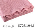 Knitted pink blanket. 67231948