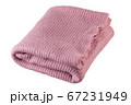 Knitted pink blanket. 67231949