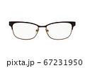 Modern glasses on white. 67231950