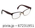 Modern glasses on white. 67231951