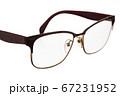 Modern glasses on white. 67231952
