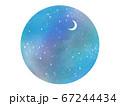 夜空の丸フレーム 67244434