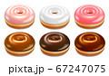 Donuts set vector 67247075