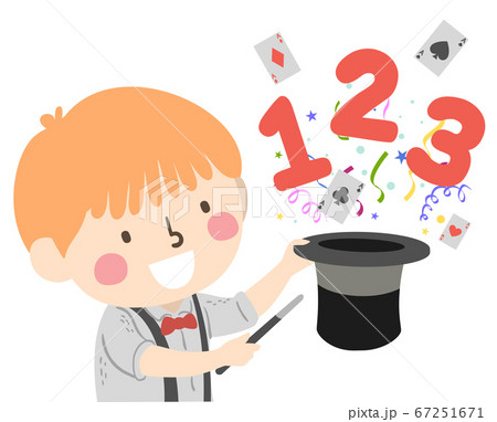 Kid Boy Magic Hat 123 Illustration 67251671