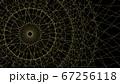 CGスクエア 円形に広がる四角形の線 67256118