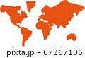 世界地図アイコンイラスト 67267106