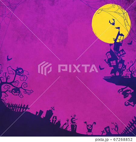 紫色のハロウィン背景 67268852