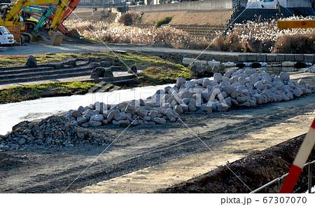 福岡県宮若市、犬鳴川一級河川工事 67307070
