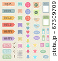 Planner stickers packs for decorate planners, create craft items, Is digital use and print. printable stickers for decoration scrapbooking, wrapping, diary and notebooks. 67309709