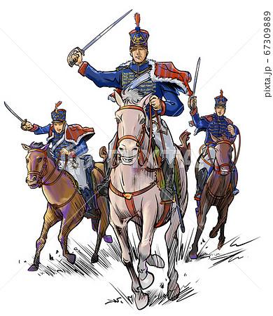 ナポレオン時代の騎馬軍団-白馬の指揮官 67309889