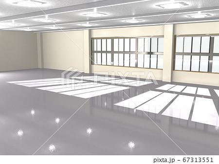 講堂、ホール、コミニュティセンター、学校、オフィス、公民館などの空間(3DCG) 67313551
