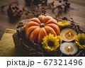 ハロウィン 秋のフラワーアレンジメント 67321496