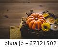 ハロウィン 秋のフラワーアレンジメント 67321502