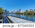 大阪天満橋 八軒家浜船着場の浮き桟橋 67340303