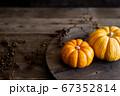 オレンジ色のカボチャ 秋のイメージ素材 67352814