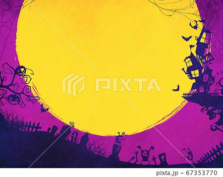 紫色のハロウィン背景 67353770