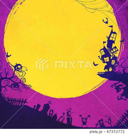 紫色のハロウィン背景 67353772
