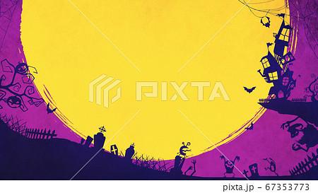 紫色のハロウィン背景 67353773