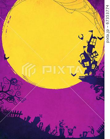 紫色のハロウィン背景 67353774