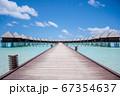南国リゾートモルディブの水上コテージに続く道 67354637