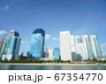 Buildings in Rachadapisek road, Bangkok, Thailand 67354770