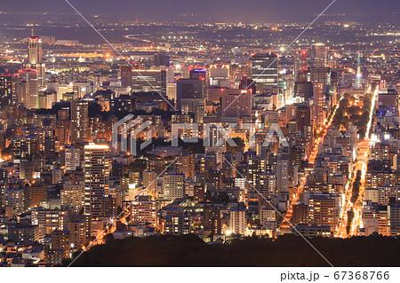 大倉山展望台から見下ろす札幌市の夜景 67368766
