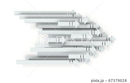 右側に進む沢山の矢印の集団。それは次世代の到来を表す。 67379028