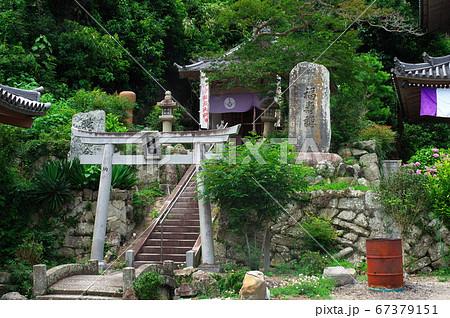 岩屋寺境内の笠森神社:愛知県南知多町 67379151