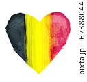 ハートマークをモチーフにしたベルギーの国旗 67388044