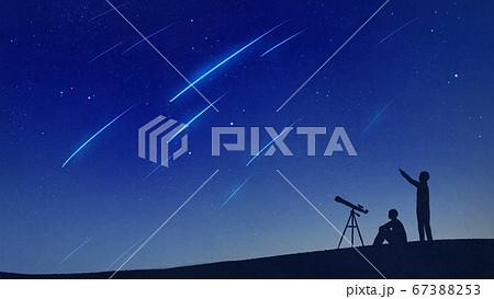 流星群の天体観測 67388253