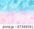 ピンクと青のグラデーションの和紙 67388581