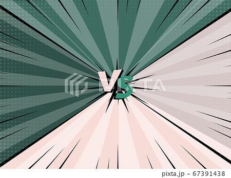 VS versus symbol for confrontation or opposition design concept illustration 016 67391438