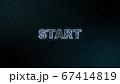 START バーチャル空間に浮かぶメッセージ素材 67414819